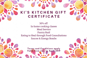 Ki gift certificate for jan to april 2019